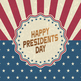 Happy Presidents Day grunge background,retro style