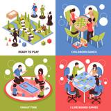Board Games Isometric Design Concept - 189449998