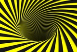 black and yellow abstract background lines black hole 3d illustration - 189454327
