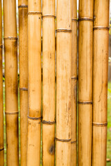 A fence made of bamboo as a background