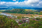 Luang Prabang city, Laos, at the confluence of the Mekong and Nam Khan rivers, UNESCO World Heritage site