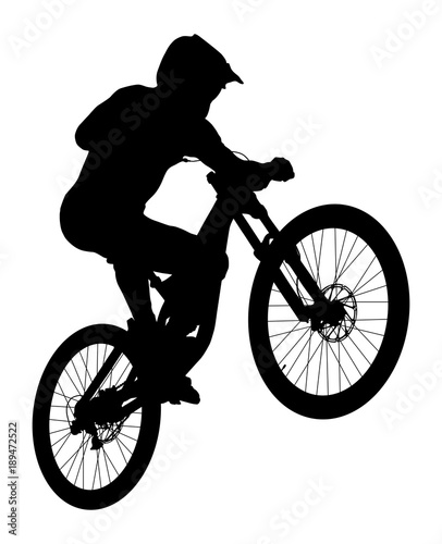 jump athlete rider mtb downhill black silhouette