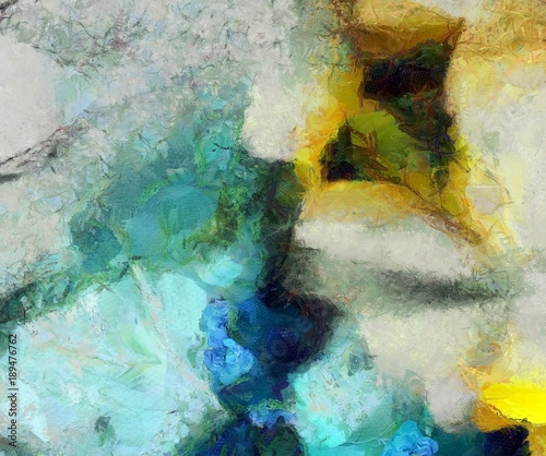 Plakat Muted Abstract Painting