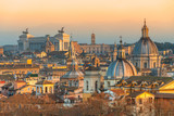 Rome at sunset time with St Peter Cathedral - 189482740