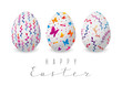 Set of color decorated Easter eggs