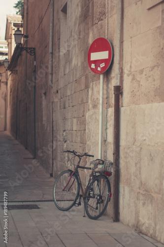 Fotobehang Fiets Palma Mallorca