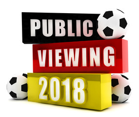Public Viewing 2018 Button, Icon