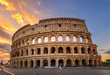 Sunrise view of Colosseum in Rome, Italy
