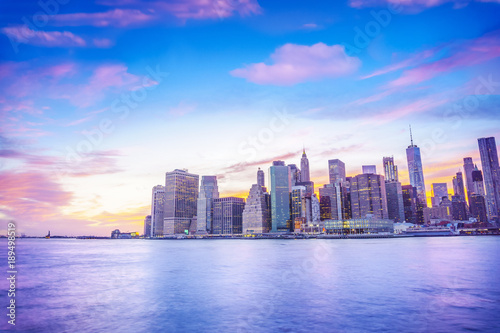 Foto op Aluminium New York New York city skyline, Lower Manhattan, New York, United States of America.