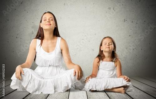 Fotobehang School de yoga Yoga.