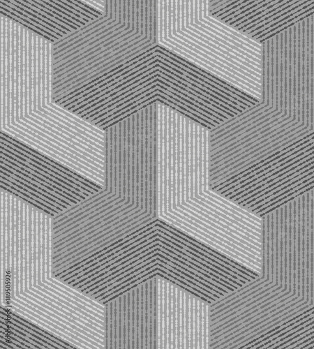 Gray modern geometric texture. A seamless vector background.. - 189505926
