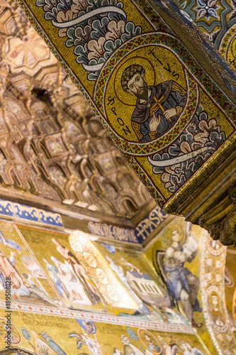 Foto op Aluminium Palermo La Cappella Palatina a Palermo