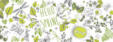 Fototapeta Teenage - Spring doodles background © Wild Orchid
