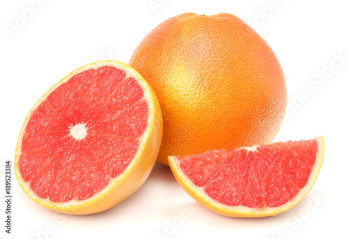 healthy food. grapefruit isolated on white background