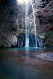 Cascata San Giuliano, Italy. Waterfall, long exposure.