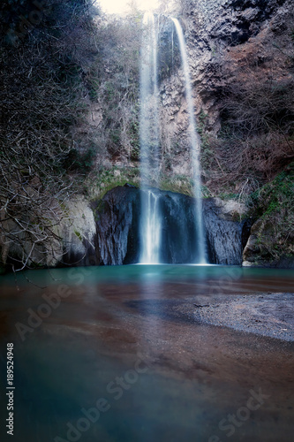 Cascata San Giuliano, Italy. Waterfall, long exposure. - 189524948