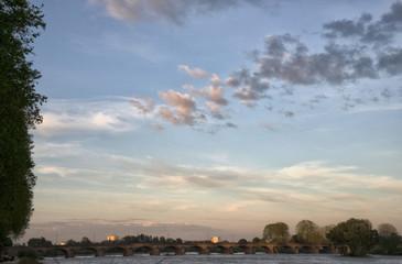 Pont sur la Loire à Nevers, Nièvre, France