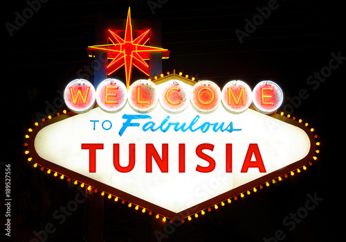 Fotobehang Las Vegas Welcome to Fabulous Tunisia