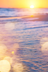 abstract sea summer Background; sunset over the beach