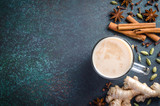 Masala chai with spices - 189531921