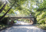 Bridge at Central Park, New York City, NY, USA on the 1st of August, 2017