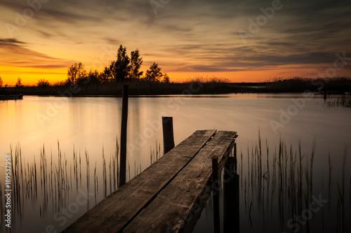 Plexiglas Pier Dock in sunset