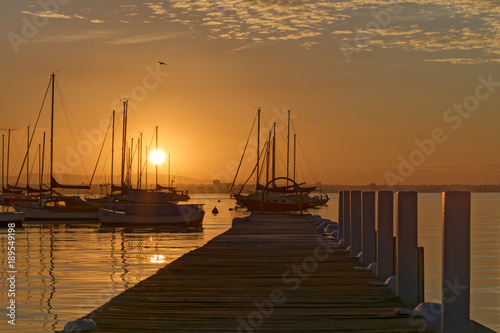 Foto op Plexiglas Ochtendgloren Williamstown sunrise