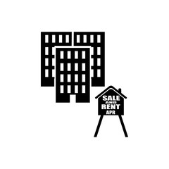 sale and rent of apartments icon. Elements of real estate transactions icon for concept and web apps. Illustration  icon for website design and development, app development
