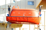 Safety lifeboat on ship deck - 189555967