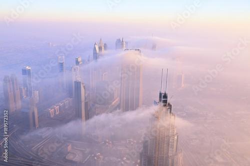 Fotobehang Lichtroze cloudy morning in Dubai,UAE
