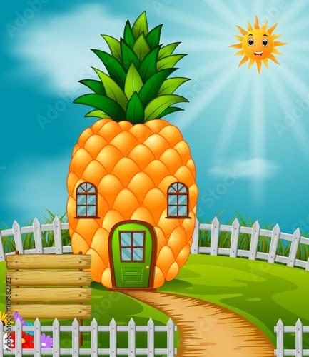Aluminium Boerderij Pineapple house in garden