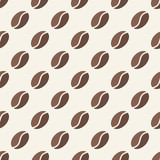 Vector coffee beans seamless pattern
