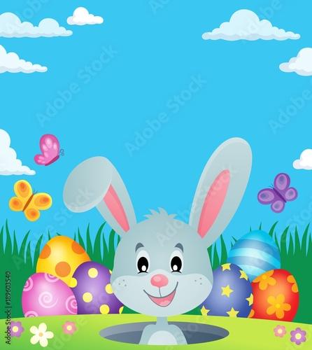 Aluminium Voor kinderen Easter eggs and lurking bunny theme 3