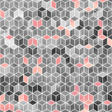 Watercolor mosaic. Bright summer pattern with watercolor cubes. - 189605946