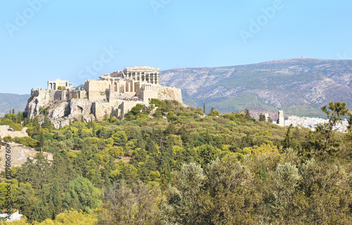 Fotobehang Athene the ancient Parthenon and Acropolis landscape in Athens city Greece