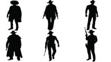Set of Western silhouette - 189629532