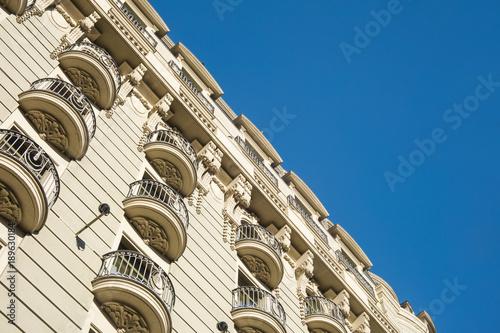 Foto op Canvas Barcelona Detail of modernist residential building in Gracia, Barcelona, Spain