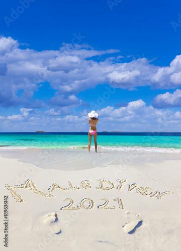 Poster Malediven Strandtext 2021