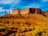 This image was captured in Monument Valley, Arizona. These Navajo lands are noted for their magnificent land formations and spectacular red rock. - 189641374