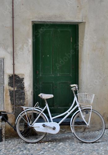 Keuken foto achterwand Fiets white bike