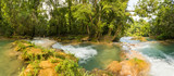 Panorama Of Agua Azul In Chiapas