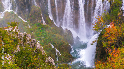 Aluminium Purper Waterfalls, Plitvice National Park, Croatia