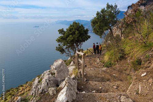 In de dag Napels Sentiero degli Dei (Italy) - Trekking route from Agerola to Nocelle in Amalfi coast, called