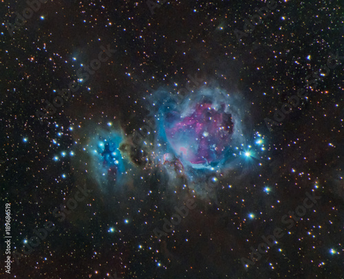 Foto op Canvas Heelal Orion and Running Man Nebula