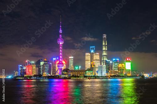 Foto op Aluminium Shanghai Pudong area of Shanghai at night