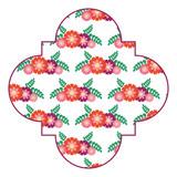 seamless pattern label spring decoration floral vector illustration