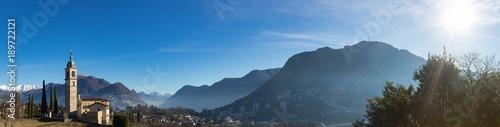 Landscape around Lugano, good weather
