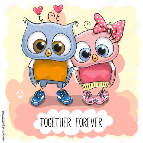 cute-cartoon-owls-boy-and-girl