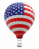 Hot Air Balloon with USA Flag. Image with clipping path - 189731720