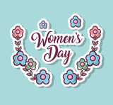 womens day celebration with flowers design